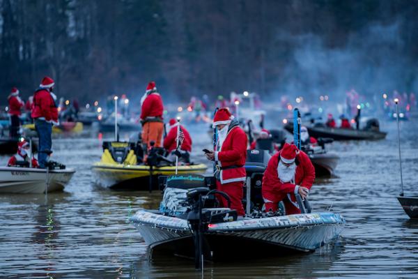 Ugly Stik World's Largest Santa Claus Bass Tournament Sets World Record